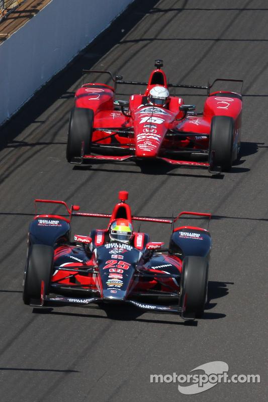 Justin Wilson, Andretti Autosport, Honda, und Graham Rahal, Rahal Letterman Lanigan Racing