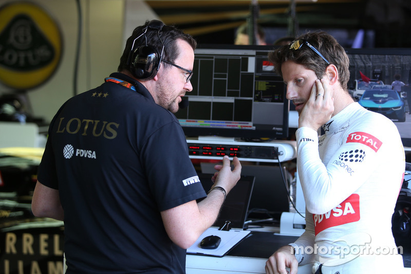 Julien Simon-Chautemps, Lotus F1 Team, Renningenieur von Romain Grosjean