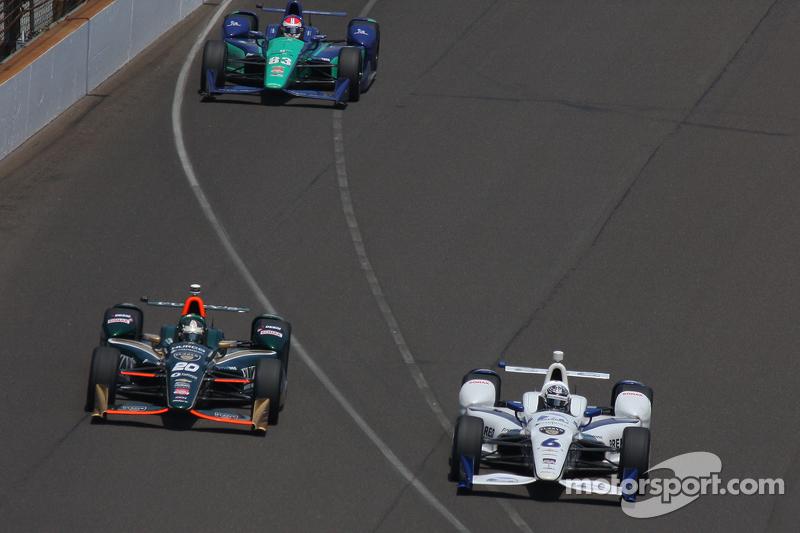 Ed Carpenter, CFH Racing, Chevrolet, und J.R. Hildebrand, CFH Racing, Chevrolet