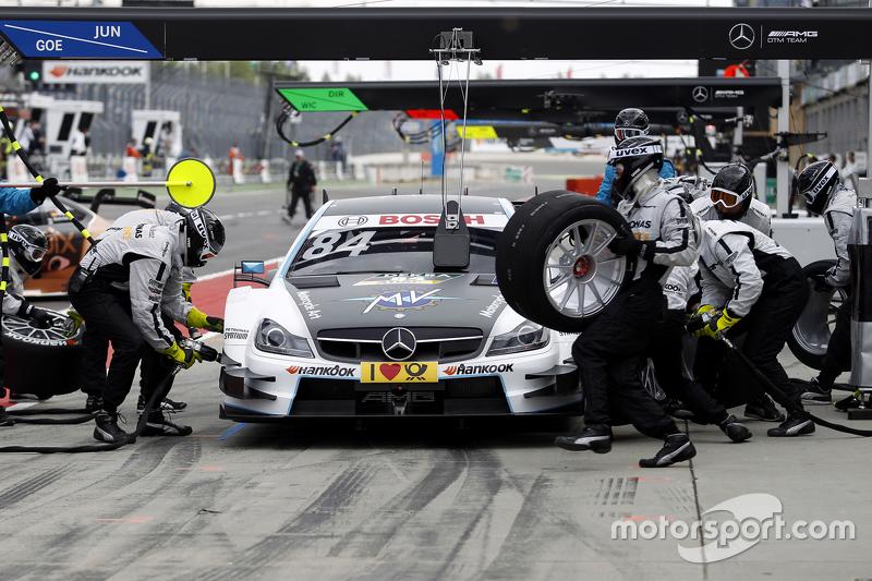 Boxenstopp für Maximilian Götz, Mücke Motorsport, Mercedes-AMG C63 DTM