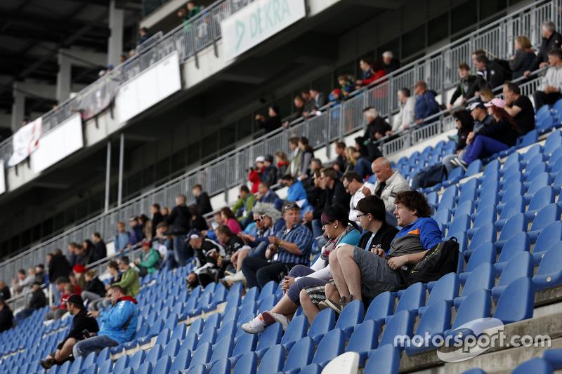 Spectators on grandstand