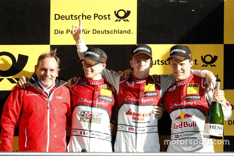 Podium: 2nd Edoardo Mortara, Audi Sport Team Abt Audi RS 5 DTM, 1st Jamie Green, Audi Sport Team Ros