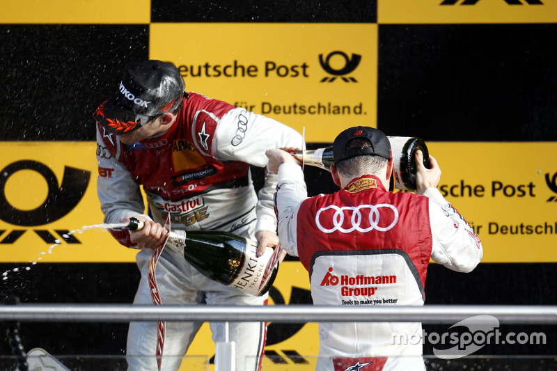 Podium: Edoardo Mortara, Audi Sport Team Abt Audi RS 5 DTM and Jamie Green, Audi Sport Team Rosberg Audi RS 5 DTM