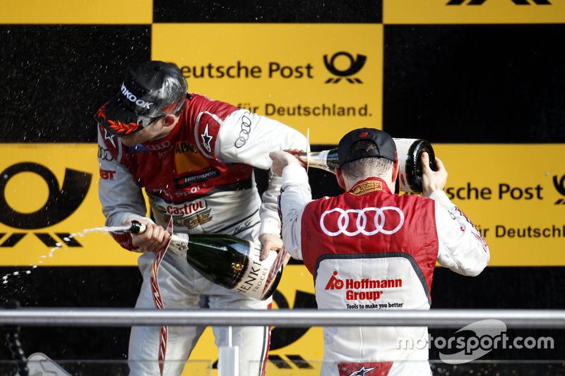Podium: Edoardo Mortara, Audi Sport Team Abt, Audi RS 5 DTM, und Jamie Green, Audi Sport Team Rosberg, Audi RS 5 DTM