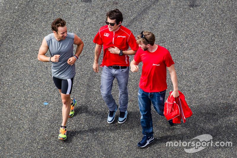 Mathias Beche, Nicolas Prost und Nick Heidfeld