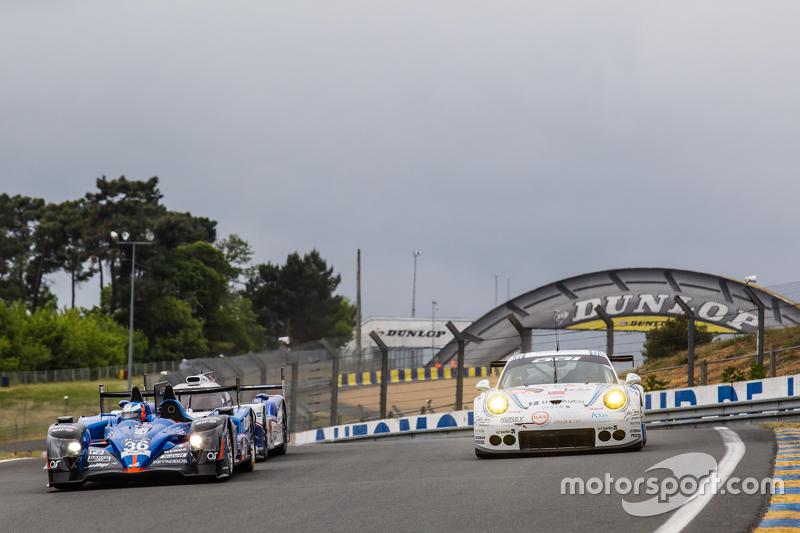 #36 Signatech, Alpine A450b: Paul-Loup Chatin, Nelson Panciatici, Vincent Capillaire und #68 Team AAI, Porsche 911 GT3-RSR: Jun-San Chen, Gilles Vannelet, Mike Parisy