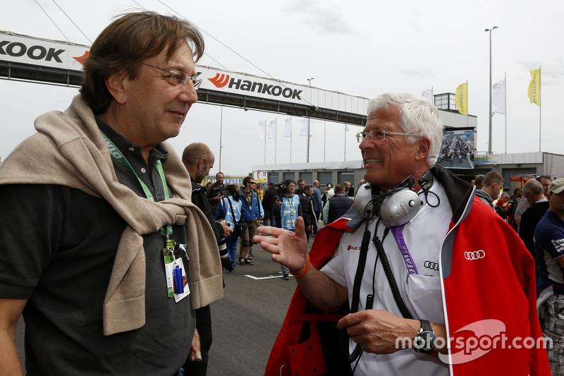 Claus Mühlberger, Auto Motor und Sport Editor та Arno Zensen, Audi Sport Team Rosberg
