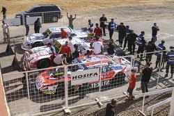Top drie: Guillermo Ortelli, JP Racing Chevrolet en Juan Manuel Silva, Catalan Magni Motorsport Ford en Mauricio Lambiris, Coiro Dole Racing Torino