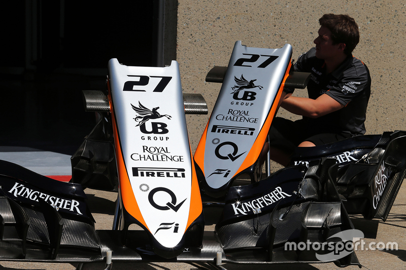 Sahara Force India F1 VJM08 nosecones