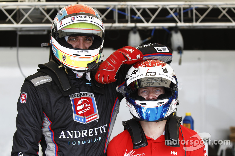 Justin Wilson, Andretti Autosport, und Sam Bird, Virgin Racing