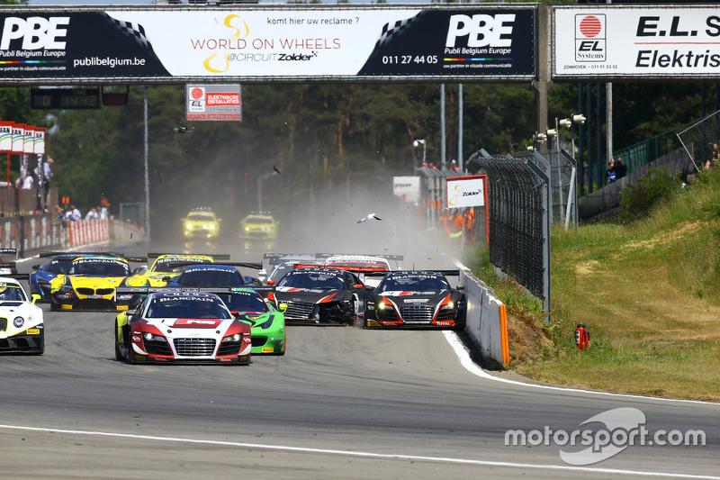 #3 Belgian Belgian Audi Club Team WRT Audi R8 LMS ultra: Stéphane Richelmi, Stéphane Ortelli dan #4