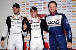 Facundo Ardusso, Equipo Fiat Petronas, Facundo Chapur, Equipo Fiat Petronas, y Agustín Canapino, Peugeot Total Argentina