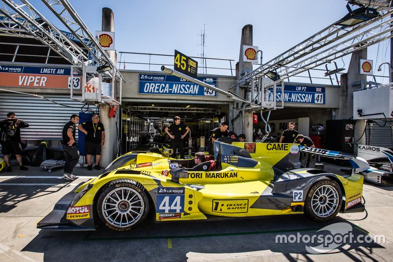 Pit stop practice for #45 Ibanez Racing ORECA 03R