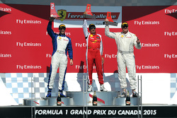 Podium: race winner #8 Ferrari of Ft. Lauderdale, second place Marc Muzzo, third place Steve Johnson