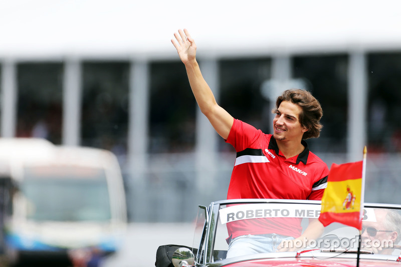 Roberto Merhi, Manor F1 Team, bei der Fahrerparade