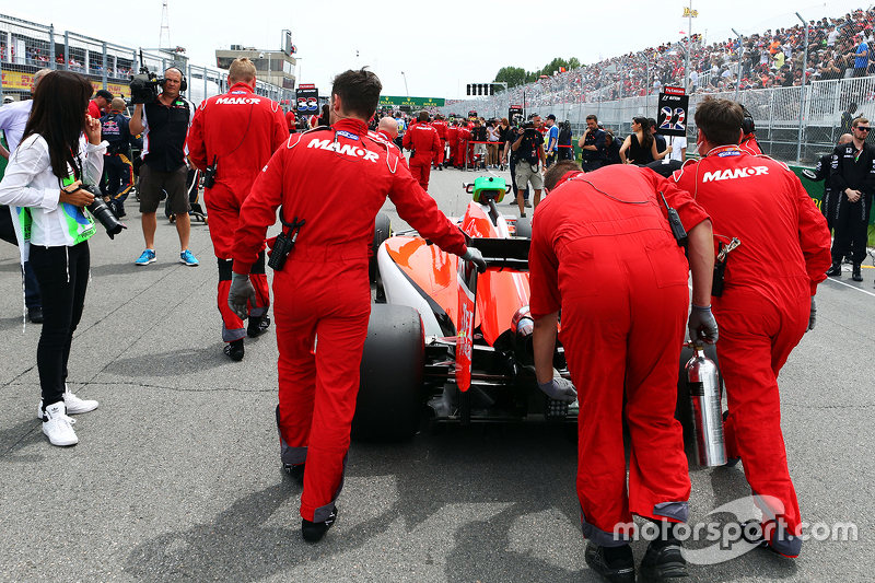 Roberto Merhi, Manor Marussia F1 Team on the grid