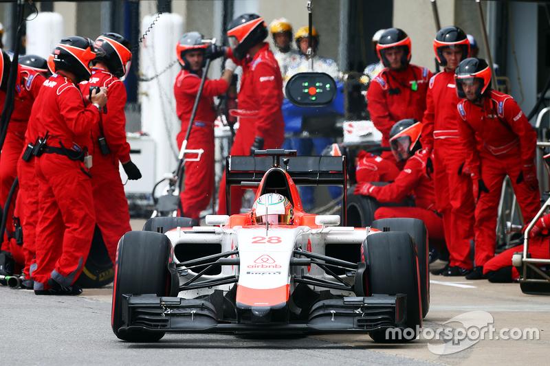 Will Stevens, Manor Marussia F1 Team hace una parada en boxes