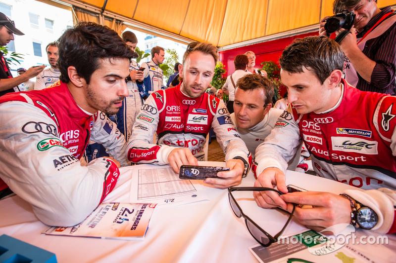 Audi Sport Team Joest: Lucas Di Grassi, René Rast, Marcel Fässler dan Oliver Jarvis