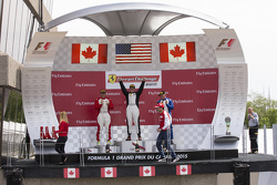 458TP Podium: Race winner #38 The Collection Ferrari 458: Gregory Romanelli, second placed #77 Ferrari Quebec Ferrari 458: Emmanuel Anassis and third placed #59 Ferrari of Fort Lauderdale Ferrari 458: John Farano