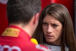 Cyndie Allemann interviewing Audi Sport Team Joest: Loic Duval