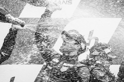 LMGT Am podium: champagne for Patrick Dempsey