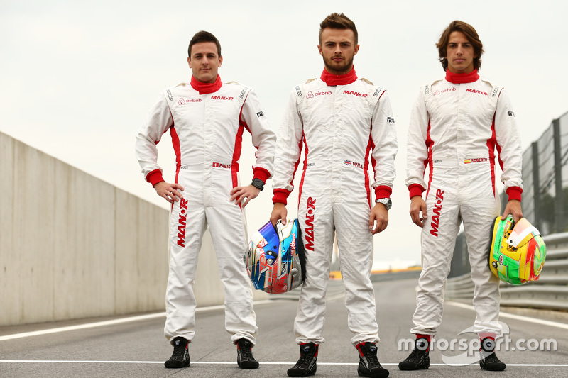 Fabio Leimer and  Will Stevens and Roberto Merhi, Manor F1 Team