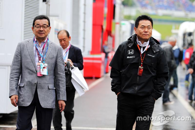 Takahiro Hachigo, Honda CEO with Yasuhisa Arai, Honda Motorsport Chief Officer