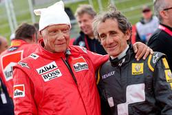 Niki Lauda, Presidente Non Esecutivo Mercedes e Alain Prost, alla Parata delle Leggende