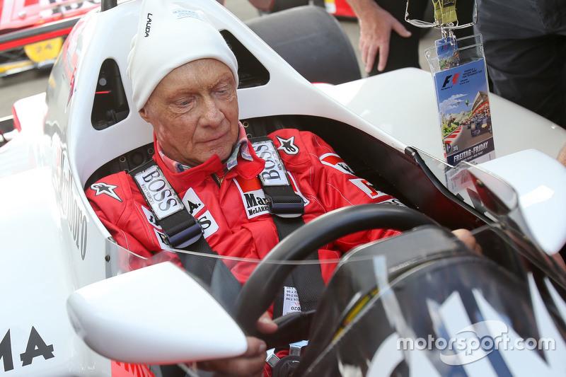 Нікі Лауда, Невиконавчий голова Mercedes в McLaren MP4/2 на Параді Легенд