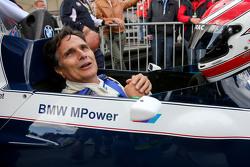 Nelson Piquet, in the Brabham BT52 en el desfile de leyendas