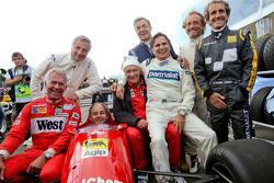 Drivers at the Legends Parade Christian Danner, Riccardo Patrese, Gerhard Berger, Niki Lauda, Merced