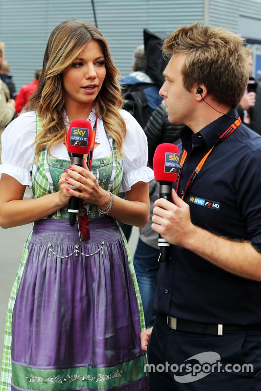 Federica Masolin en Davide Valsecchi, Sky F1 Italia Presentatoren