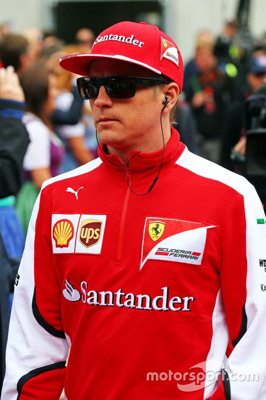 Kimi Raikkonen, Ferrari op de rijdersparade