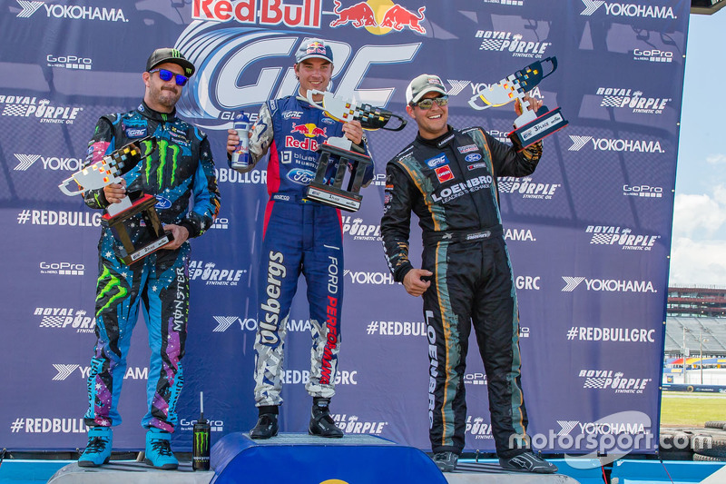Podium: winner Sebastian Eriksson, second place Ken Block, third place Steve Arpin