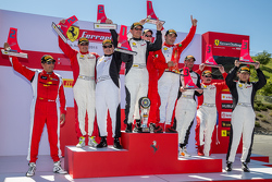 Combines podium winners at the Sonoma round of the Ferrari Challenge