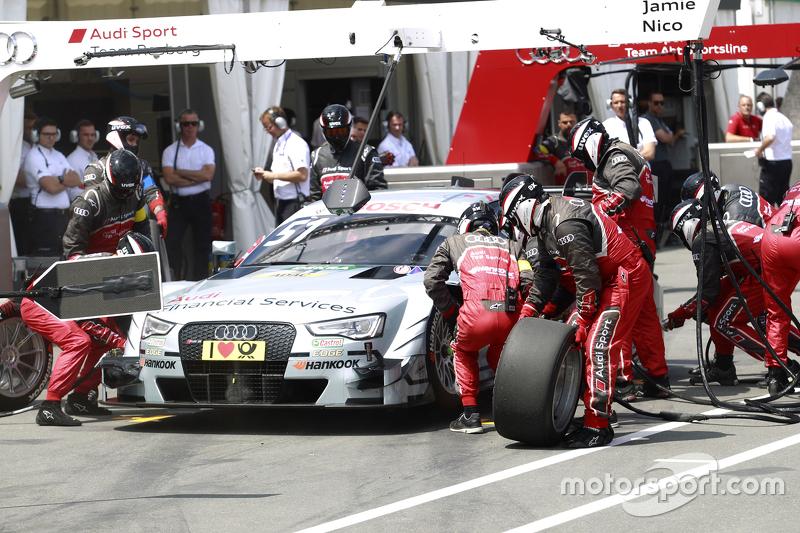 Boxenstopp für Nico Müller, Audi Sport Team Rosberg, Audi RS 5 DTM