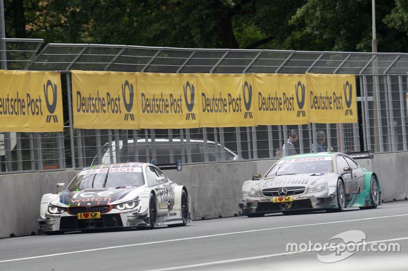Marco Wittmann, BMW Team RMG, BMW M4 DTM, und Daniel Juncadella, Mücke Motorsport, Mercedes-AMG C63
