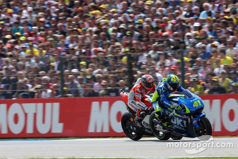 Aleix Espargaro, Team Suzuki MotoGP dan danrea Dovizioso, Ducati Team