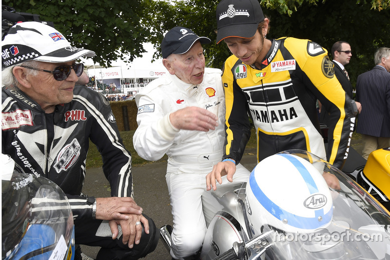 Phil Read, John Surtees et Valentino Rossi, Yamaha Factory Racing