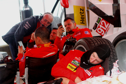 Porsche North America team members sleep