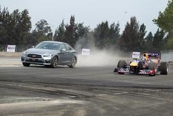 Daniel Ricciardo, de Red Bull Racing pone a prueba el nuevo circuito del GP de México