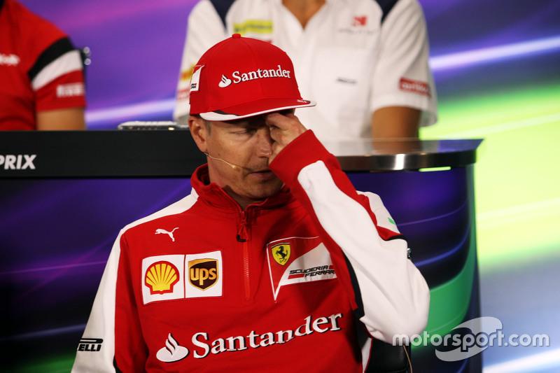 Kimi Räikkönen, Ferrari, in der FIA-Pressekonferenz