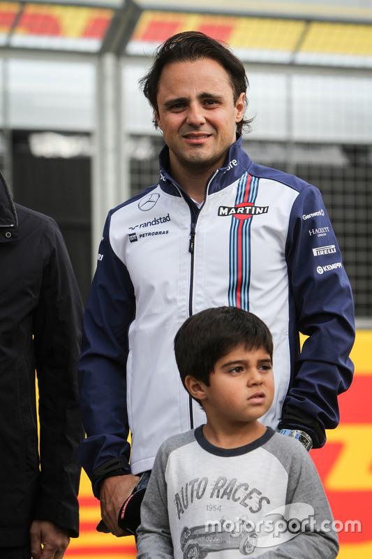 Felipe Massa, Williams with his son Felipinho Mass