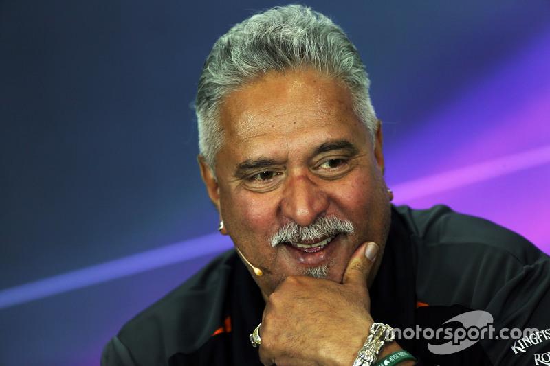 Dr. Vijay Mallya, Sahara Force India F1, Teambesitzer, in der FIA-Pressekonferenz