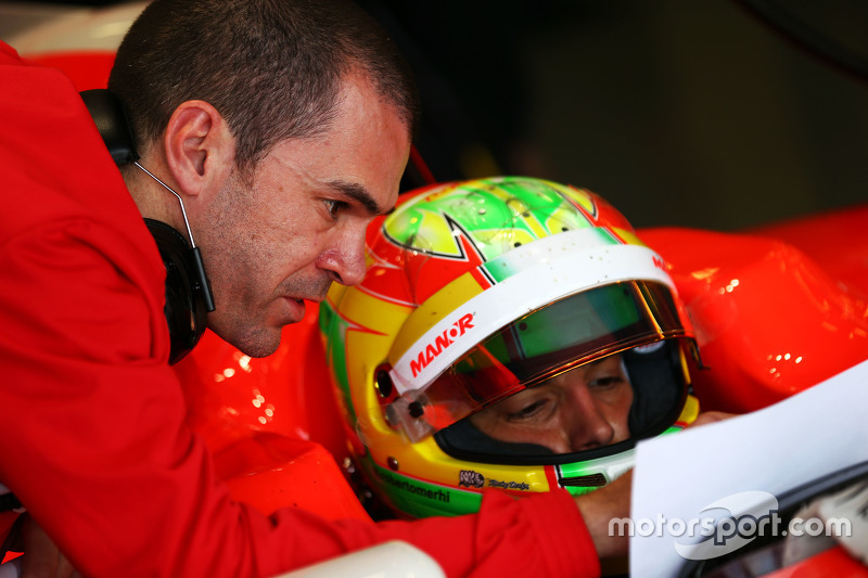 Roberto Merhi, Manor F1 Team with Marc Hynes, Manor F1 Team Driver Coach
