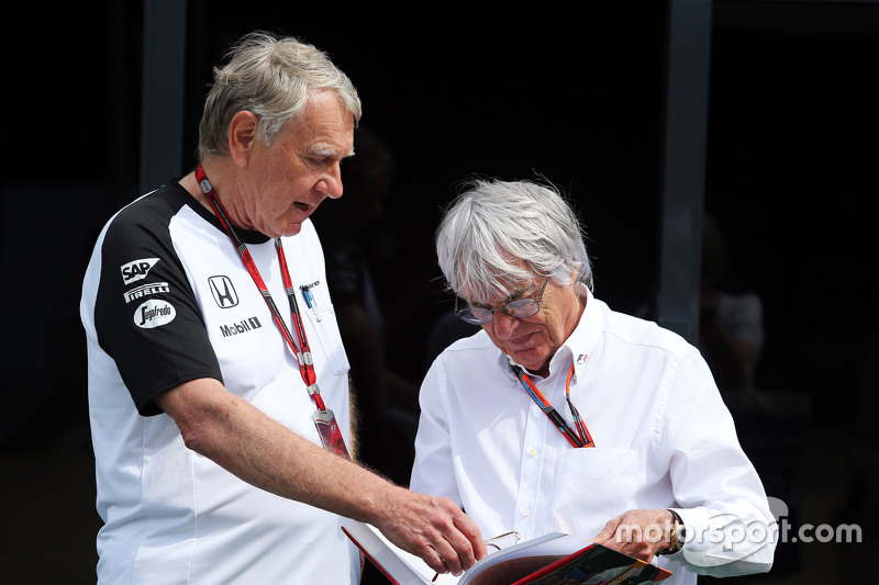 Tyler Alexander, McLaren with Bernie Ecclestone