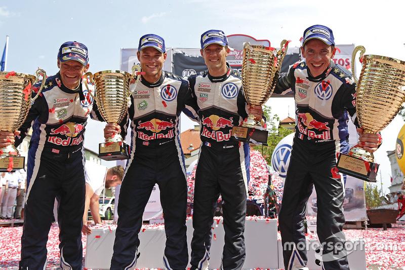 Pemenang balapan, Sébastien Ogier, dan Julien Ingrassia, Volkswagen Polo WRC, Volkswagen Motorsport,