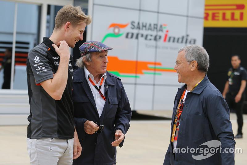 Nico Hulkenberg, Sahara Force India F1, dan Sir Jackie Stewart, dan Sir Martin Sorrell