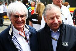Берни Экклстоун и Жан Тодт, президент FIA на стартовой решетке