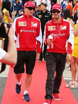 Кими Райкконен, Ferrari и Себастьян Феттель, Ferrari на параде пилотов